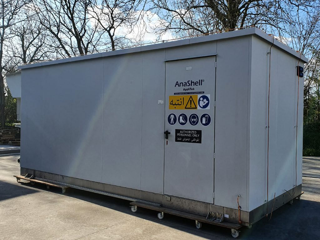 AnaShell shelter prior to shipment to the customer site